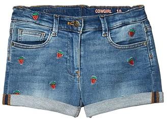 crewcuts by J.Crew Strawberry Denim Shorts (Toddler/Little Kids/Big Kids) (Picnic Wash) Girl's Shorts