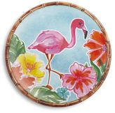 Sur La Table Flamingo Melamine Dinner Plate