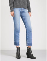 Hudson Zoeey frayed-hem straight high-rise jeans