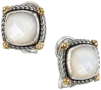 Konstantino Delos 18K Yellow Gold, Sterling Silver & 7.25MM Square Mother-Of-Pearl Stud Earrings