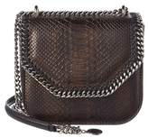 Stella McCartney Falabella Box Mini Python-embossed Crossbody.