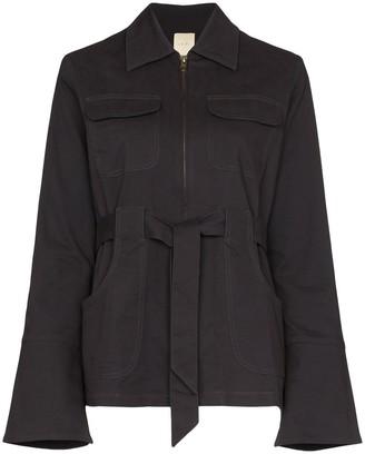 USISI SISTER Emilie zipped tie waist jacket