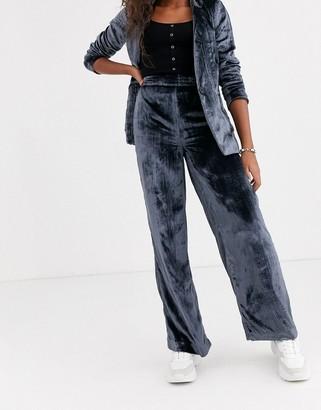 Pepe Jeans Ras velvet wide leg trousers