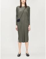 Pleats Please Issey Miyake Pleated long-sleeved woven dress