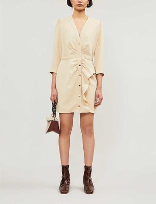 Sandro Stretch-twill mini dress