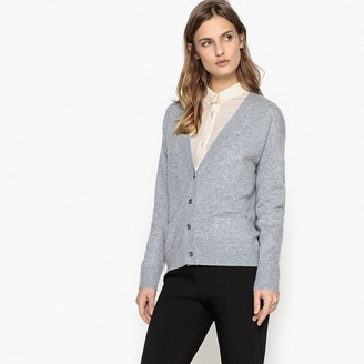 La Redoute Collections Cashmere V-Neck Cardigan with Pockets