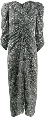 Isabel Marant Paisley Print Ruched Dress