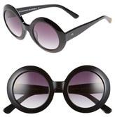 Freida Rothman Women's 'Jackie O' 48Mm Round Sunglasses - Black
