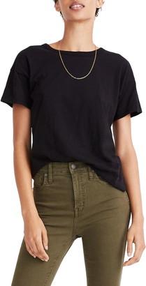 Madewell Whisper Cotton Ribbed Crewneck T-Shirt