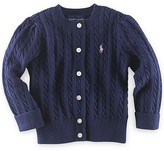 Ralph Lauren Girls' Cable Cardigan Sweater - Little Kid