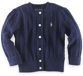 Ralph Lauren Girls' Cable Cardigan Sweater - Sizes S-XL