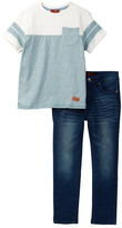 7 For All Mankind Tee & Denim Pant Set (Toddler Boys)