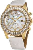 August Steiner Women's ASA837YG Swiss Quartz Baguette Bezel Watch