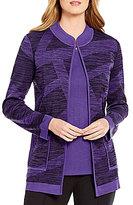 Misook Stand Collar Pattern Jacket