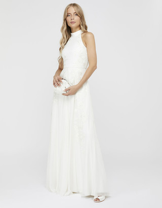 Under Armour Ethel Bridal Embellished Lace Maxi Dress Ivory