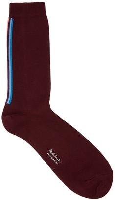 Paul Smith Artist Burgundy Cotton-blend Socks