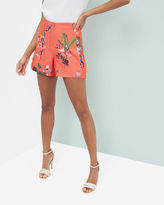 Ted Baker Tropical Oasis scallop detail shorts
