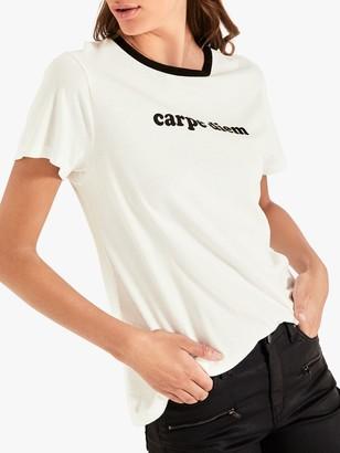 Hush Carpe Diem Graphic T-Shirt, White