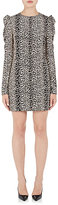 Saint Laurent Women's Leopard-Print Silk Shift Dress