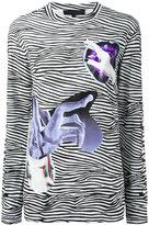 Proenza Schouler zebra print top