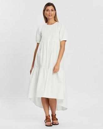 Atmos & Here Emma Tiered Hem Dress