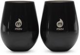 MIZU 2 Pack Wine Cup Glossy Black