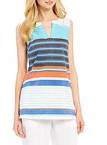 Tommy Bahama Kleos Stripe Sleeveless Tunic