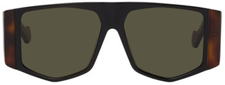 Loewe Black and Brown Mask Sunglasses
