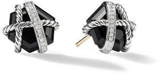 David Yurman Cable Wrap Earrings with Gemstone & Diamonds