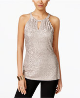 INC International Concepts Sequin Halter Top, Only at Macy's