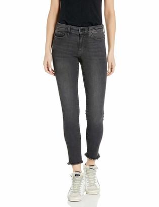 Goodthreads Mid-rise Skinny Jeans Cropped Fray Vintage Black 31 Regular