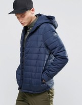 Element Hayden Hooded Quilt Jacket Navy