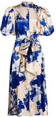 Silvia Tcherassi Ophelia Puff Sleeve Midi Dress