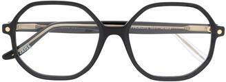 S'nob Hexagonal-Frame Glasses