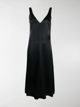 Ganni Sleeveless Slip Midi Dress