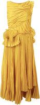 Rochas pleated flared dress - women - Cotton/Silk - 44