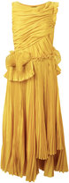 Rochas pleated flared dress - women - Silk/Cotton - 44
