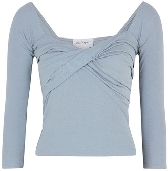 The Line By K Stevie Duck Egg Blue Stretch-jersey Top