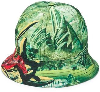 Valentino Dragon Print Bucket Hat