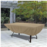 Classic Accessories Rectangular Patio Table Cover in Sand