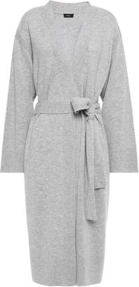 Theory Belted Wool And Cashmere-blend Cardigan