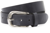 Berge Distressed Buckle Leather Belt