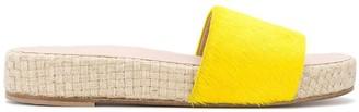 Solange Fur Flatform Slides