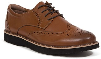 Deer Stags Walkmaster Leather Wingtip Derby - Wide Width Available