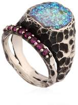 Voodoo Jewels Sigillum Ring With Synthetic Rubies