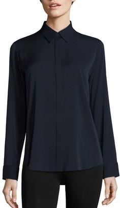 The Row Essentials Petan Stretch Silk Shirt
