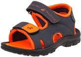 Beverly Hills Polo Club Boys' Sandals Navy/Orange - Navy & Orange Two-Strap Sandal - Boys