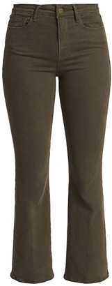Frame Le Crop Mid-Rise Bootcut Jeans