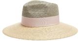 Federica Moretti Bi-colour straw hat