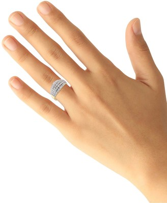 Love Diamond 9ct Gold 1/2 Carat Diamond Total 5 Row Eternity Ring